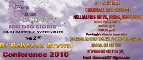 Rebecca Brown - SA Conference 2010