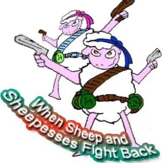 when sheep fight back – dangerous job