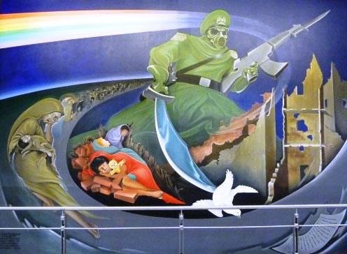 DIA1-3rdMural-MainPicture New World Order Airport - Occult art