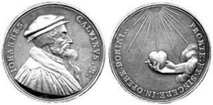 seal of john calvin coin