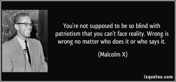 Blind Patrotism