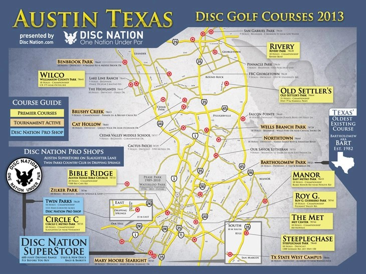 hight resolution of austin texas disc golf courses 2012