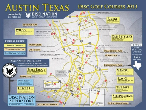 small resolution of austin texas disc golf courses 2012