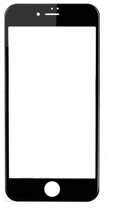 Cristal temperado 3D iPhone 7 Plus / 8 Plus Preto SBS