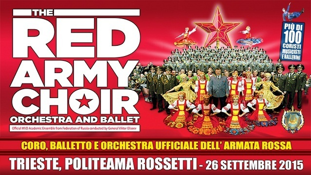 the red army choir  banner largo cs 26.09.2015   Red Army Choir Orchestra and Ballet a Trieste