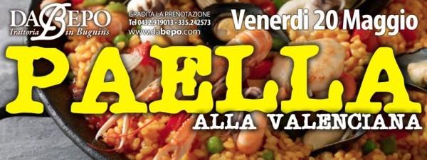 paella Serata Paella ★ Venerdì 20 Maggio – Trattoria Da Bepo Bugnins