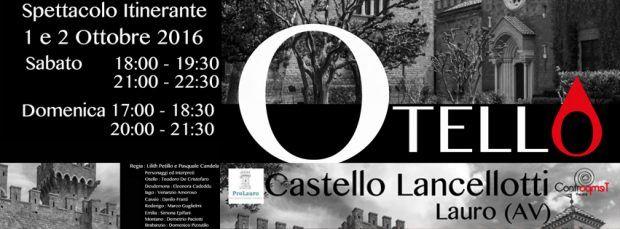 """facebook otello 620x229 """"OTELLO"""" di William Shakespeare al Castello Lancellotti, Lauro (provincia Avellino)"""