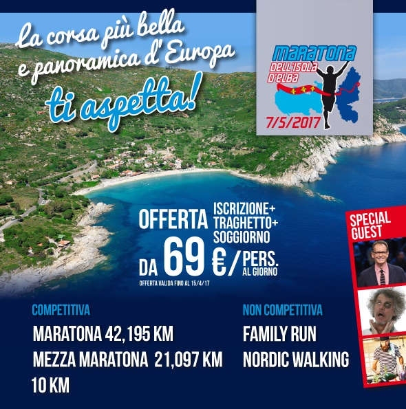 7tg19bmxlve Maratona dellisola dElba 07/05/2017