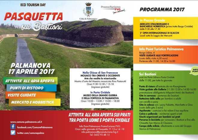 pasquetta sui bastioni di palmanova 2017 2 A Palmanova si festeggia la Pasquetta sui Bastioni, 17 aprile 2017 Eventi a Udine
