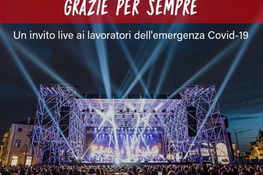 """Presentata l'iniziativa """"GRAZIE PER SEMPRE"""", concerti gratuiti per chi ha fronteggiato in prima persona l'emergenza Covid-19"""