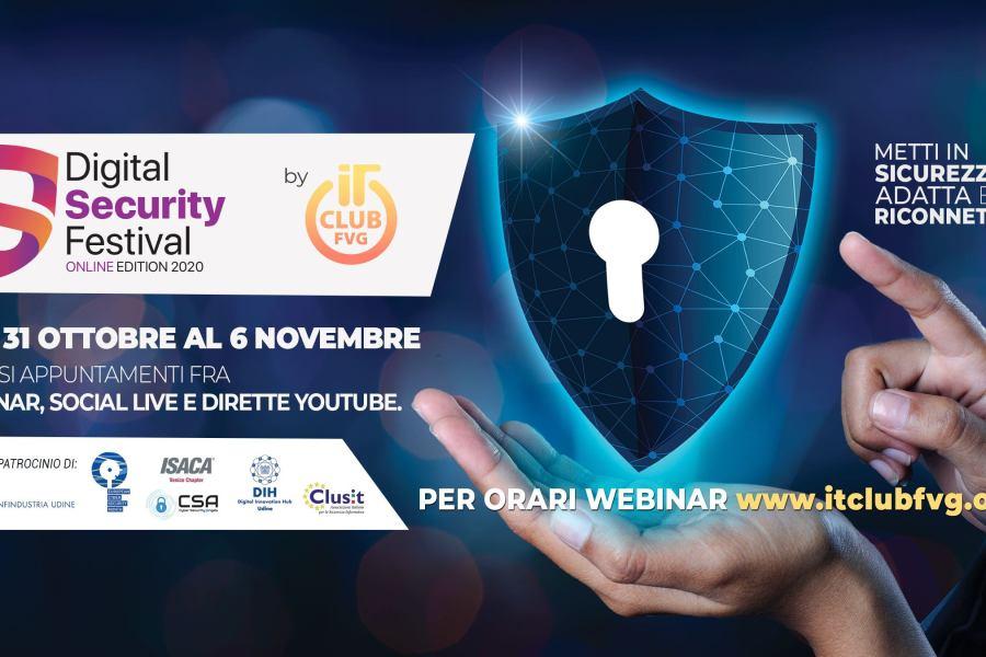 Digital Security Festival: la sicurezza informatica spiegata semplice. 30 ottobre – 6 novembre