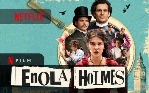 copertina del film enola holmes di netflix