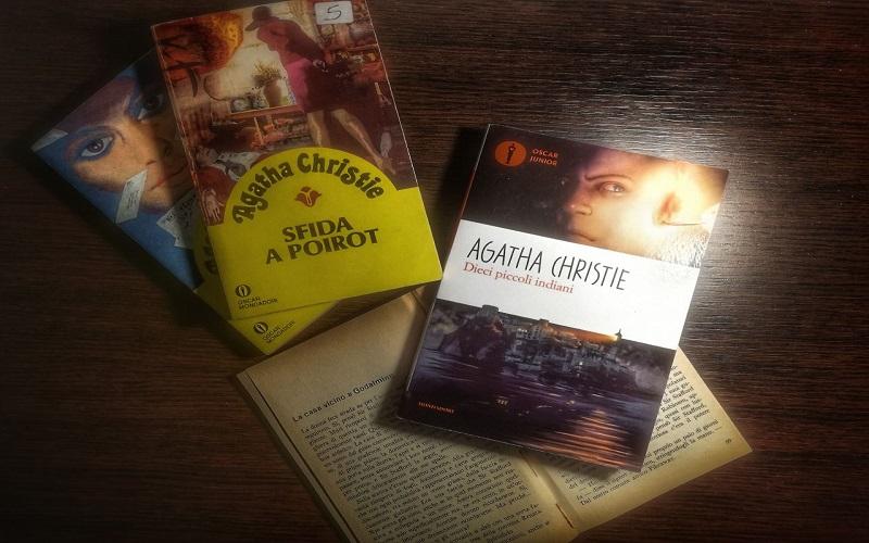 alcune copertine dei libri di agatha christie