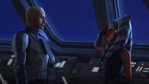 Il capitano Rex e Ahsoka