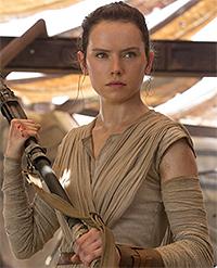 Rey, interpretata da Daisy Ridley, è un ottimo esempio di Mary Sue