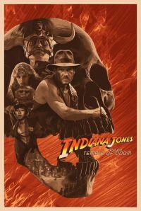 Il poster celebrativo di Indiana Jones e il tempio maledetto