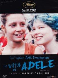 La locandina della vita di Adèle, Palma d'oro a Cannes che parla della giovane Adele e della sua relazione lesbica con Emma