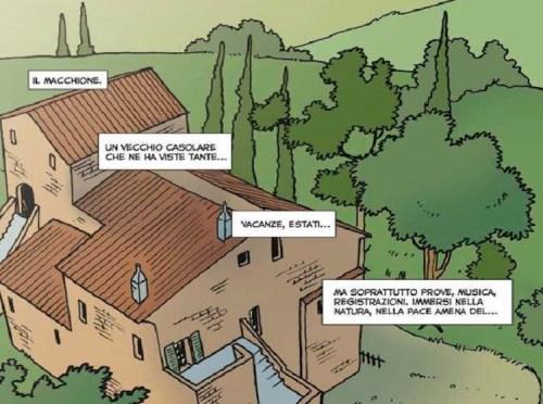 Il Macchione, sala prove dei Fask nelle campagne umbre