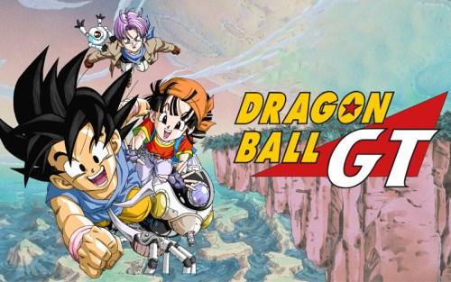 Goku, Pan, Trunks e Gil in Dragon Ball GT