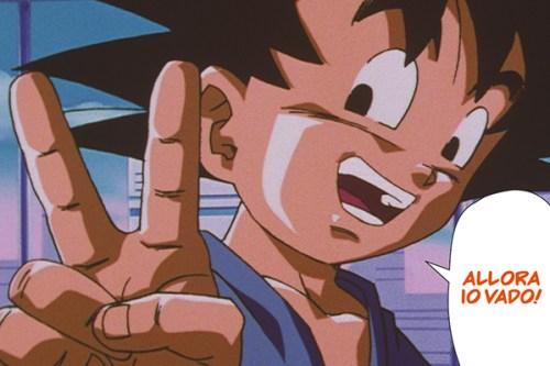 Goku di nuovo bambino in Dragon Ball GT formato manga (o anime comics)