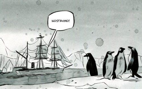 La nave della Belgica avvista dei pinguini