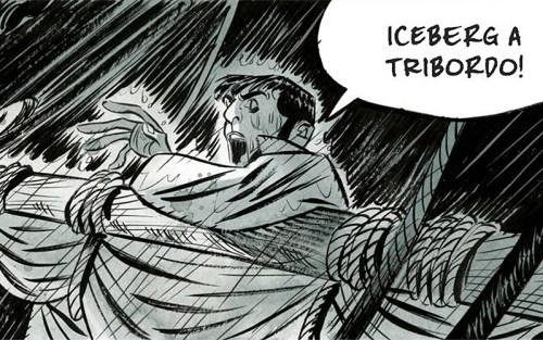 Jean rischia di annegare in mare in una scena del fumetto di Toni Bruno