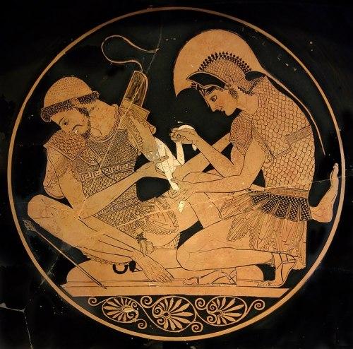 Achille e Patroclo nel vaso attribuito a Sosias
