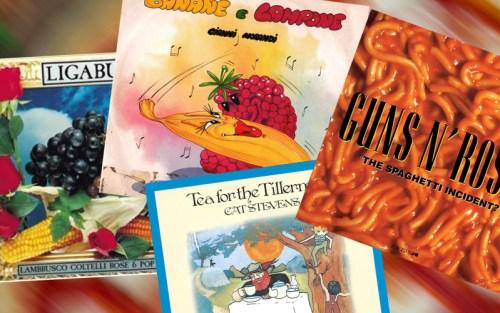 Alcuni album che mescolano cibo e canzoni