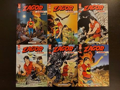 Le copertine dei sei numeri della miniserie Zagor, Le origini