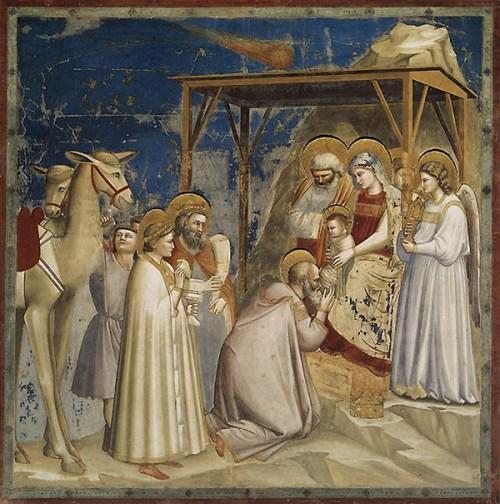 L'adorazione dei magi, di Giotto