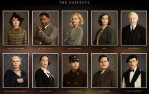 Assassinio sull'Orient Express i protagonisti in stile cluedo