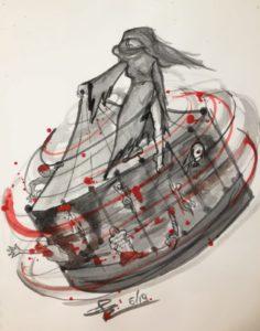 Notti Oscure, illustrazione di Giulia Repetto.