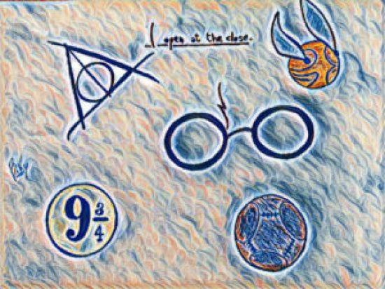 Buon compleanno Harry Potter! Nell'illustrazione di Riccardo Timossi possiamo vede alcuni degli elementi simbolo della saga, tra cui il Boccino d'oro, gli occhiali tondi e la cicatrice a forma di fulmine