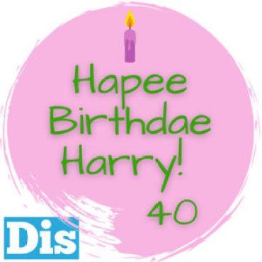 Il nostro logo per i 40 anni del personaggio creato da J.K. Rowling, ispirato alla torta sgrammaticata fatta da Hagrid! Buon compleanno Harry Potter!