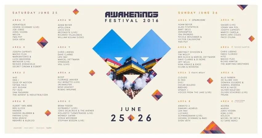 25 e 26 06 2016 AWAKENINGS FESTIVAL AMSTERDAM + PREZZI BIGLIETTI PACCHETTI HOTEL VOLO
