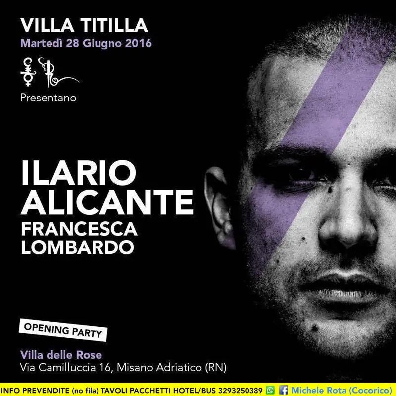 VILLA TITILLA ILARIO ALICANTE Opening Party 28 giugno 2016 alla villa delle rose