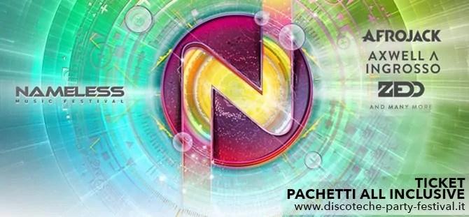 NAMELESS MUSIC FESTIVAL 2017 Date – Lineup – Prezzi – Ticket – Biglietti – Pacchetti Hotel – Bus