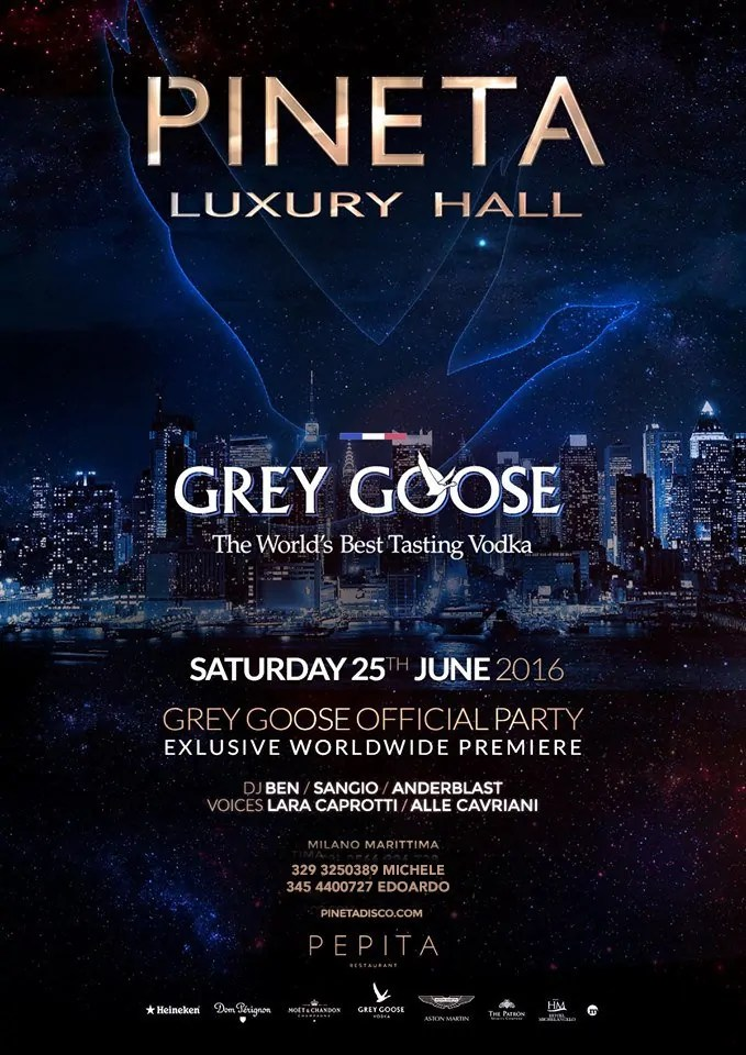 Pineta Milano Marittima Grey Goose Party 25 06 2016