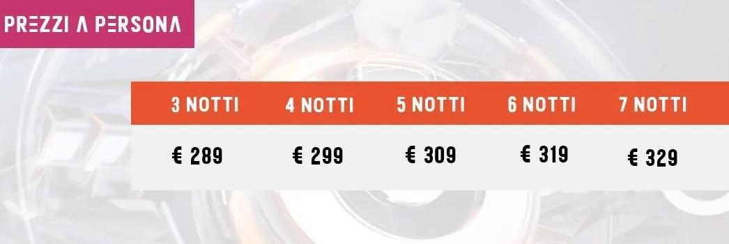 prezzi pacchetti ULTRA EUROPE BEACHVILLE