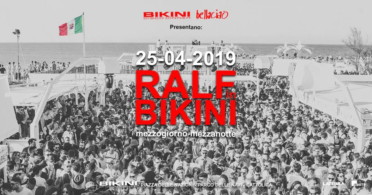 Ralf in Bikini Cattolica 25 Aprile 2019 – Mezzogiorno Mezzanotte