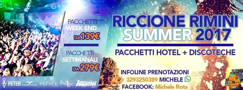 Vacanze Riccione Rimini Estate 2017 Pacchetti Hotel Discoteche