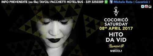 SABATO 08 Aprile 2017 HITO COCORICO Prezzi Prevendite Biglietti Liste Tavoli Hotel + Pullman