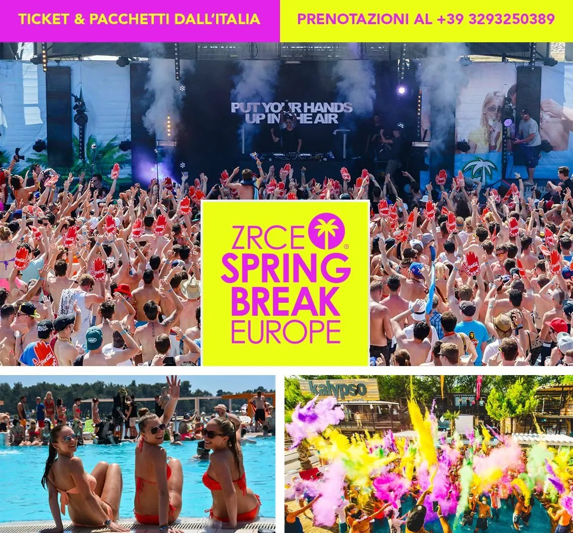 Zrce Spring Break Europe 2020 Zrce Beach Isola di Pag Novalja Croazia
