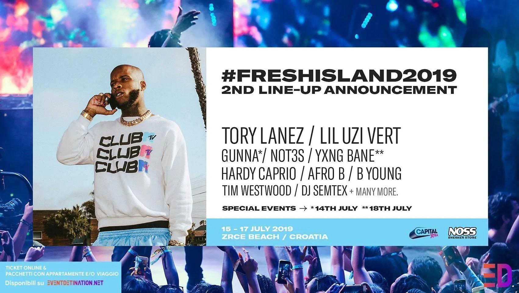 Fresh Island Festival 2019, 15 – 17 Luglio – Pag Croazia + Ticket e Pacchetti Appartamento