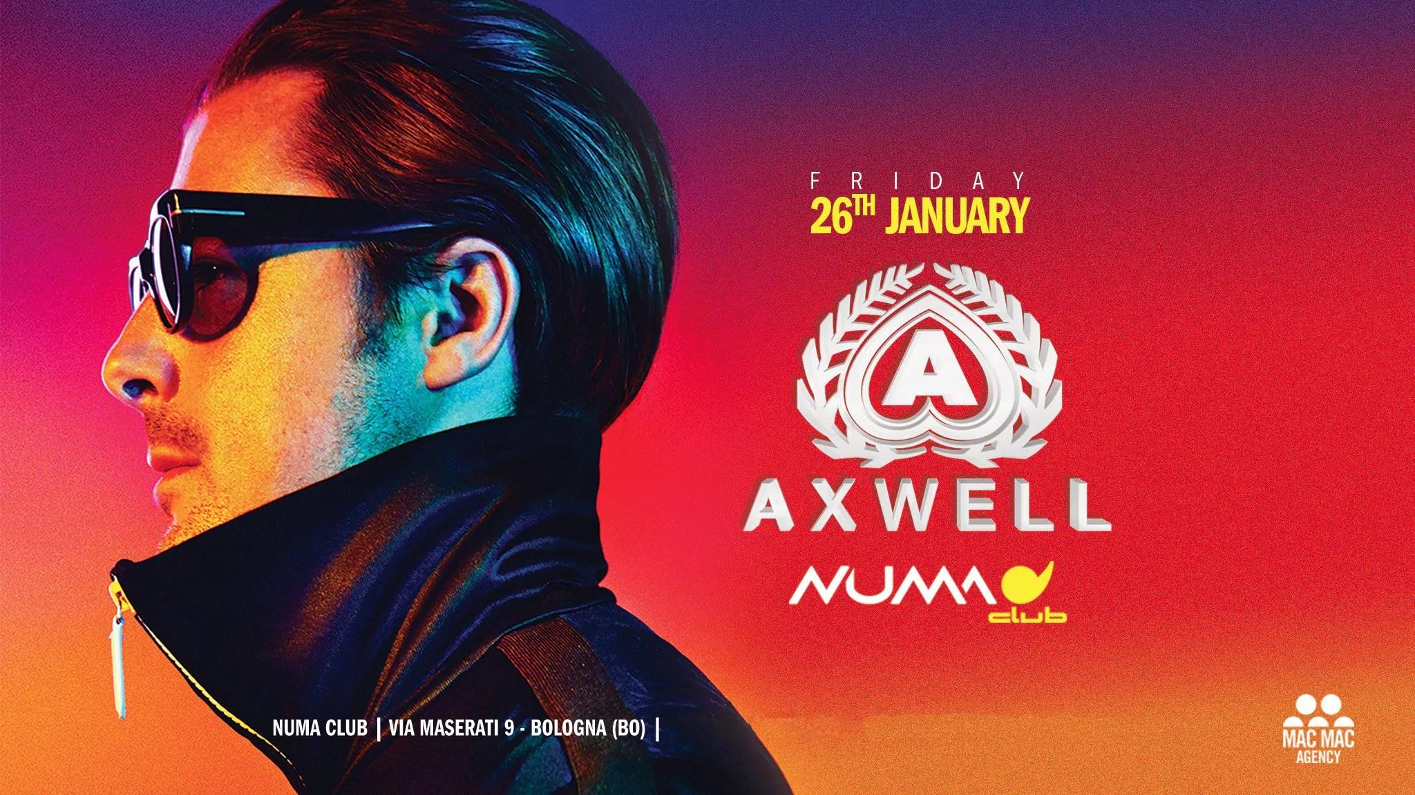 26 01 2018 – NUMA Bologna – AXWELL – Ticket – Pacchetti Hotel