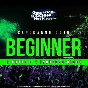 Pacchetto hotel + discoteche riccione capodanno 2019 Beginner quadrata1