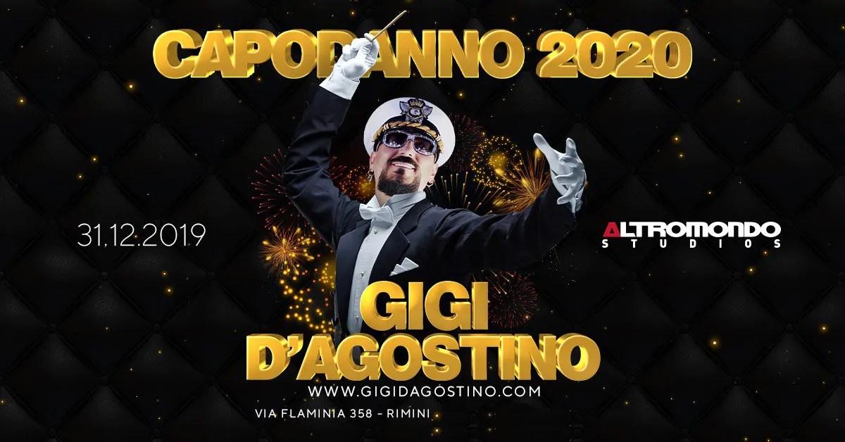 Capodanno 2020 Altromondo Studios Rimini Gigi D'agostino – 31 Dicembre 2019 | Ticket Tavoli Pacchetti hotel