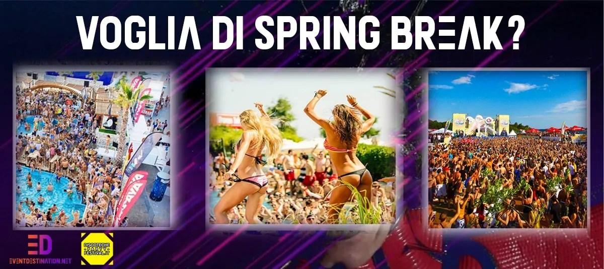 Spring Break 2020 Le informazioni sulle date e le località dove si svolgono