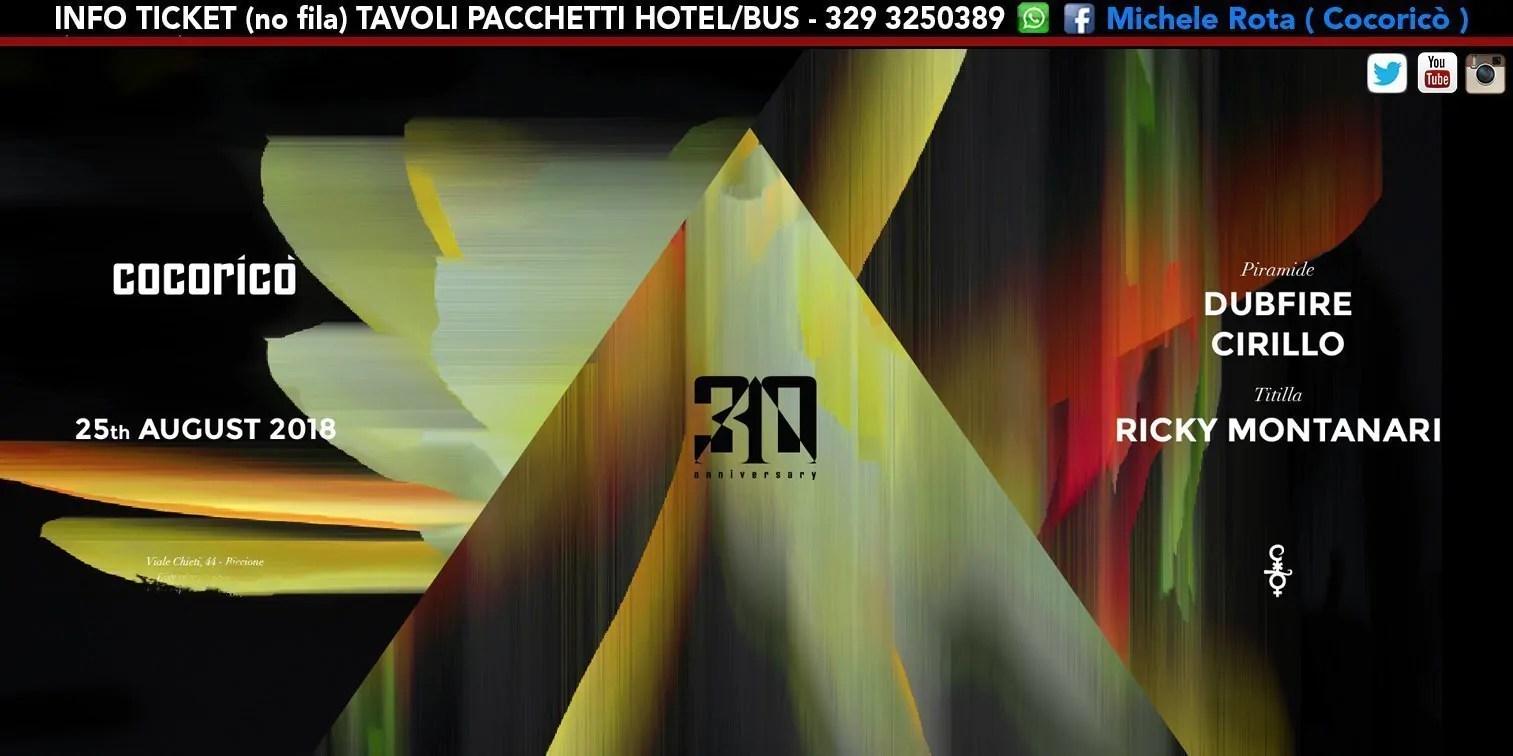 DUBFIRE al Cocoricò Riccione – Sabato 25 Agosto 2018 | Ticket Online Tavoli Pacchetti hotel Prevendite