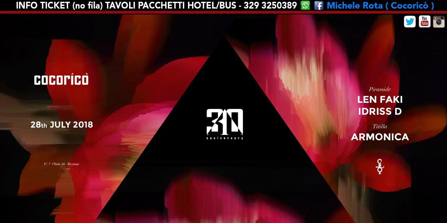 Len Faki al Cocoricò Riccione – Sabato 28 Luglio 2018 | Ticket Online Tavoli Pacchetti hotel Prevendite